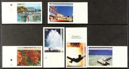 2007 IMPERF PROOFS Cayman Islands Scenes Complete Set, SG 1127/32,IMPERF PROOFS On Gummed CA Wmk (Sideways Or Upright)  - Iles Caïmans