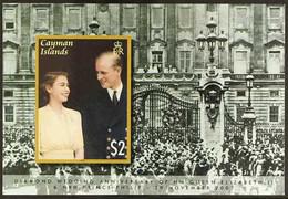 2007 IMPERF PROOF Diamond Wedding Of QEII & Prince Philip $2 Miniature Sheet, SG MS1142,IMPERF PROOF On Gummed CA Wmk ( - Iles Caïmans