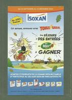 BULLETIN PUBLICITAIRE ISOXAN ASTERIX ET OBELIX UDERZO 7X11CM SEJOURS A GAGNER AU PARC D ASTERIX - Advertising