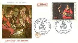 FDC NEUVES 1966 -  Peintre George De La Tour - 1960-1969