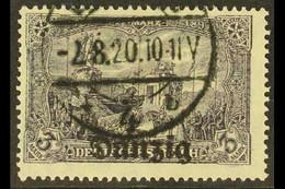 1920 (JUN-DEC) 3m Black-grey-violet, Michel 13b, Cds Used. For More Images, Please Visit Http://www.sandafayre.com/itemd - Danzig