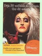 K174 - CARTE PUB - Cart A Pub - Soirées Halloween Au Parc Disneyland Resort Paris - Cruella - Disney - Reclame