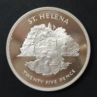 Sant 'Elena 25 Pence Silver Jubilee Elisabetta IIà 1977 PP/Proof D.502 - Saint Helena Island