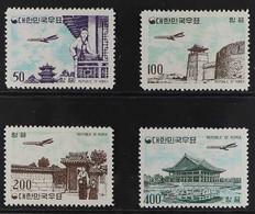 1961 Air Post Set Complete, Scott C23/C26 Or SG 417/420, Never Hinged Mint. (4 Stamps) For More Images, Please Visit Htt - Corea Del Sur