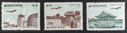 1964 (MAY) Air Post Complete Set On Granite Paper, Scott C32/C34 Or SG 512/514, Never Hinged Mint. (3 Stamps) For More I - Corea Del Sur