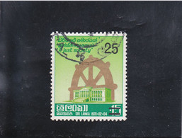 PRESTATION SERMENT DU NOUVEAU PRéSIDENT OBLITéRé 25C SUR 15C  N° 507 YVERT ET TELLIER 1978 - Sri Lanka (Ceylon) (1948-...)