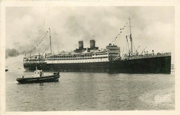 AB. Photo Cpsm NAVIRE PAQUEBOT. Koutoubia Compagnie Paquet - Steamers