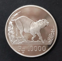 Indonesia 1987 World Wildlfe  10000 RUPIA AG PROOF D.503 - Indonesia