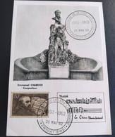 CARTE CENTENAIRE DE LA LYRE LIVRADOISE 1962 OBLITÉRATION AMBERT TIMBRES N° 542 / 1242 - 1960-1969