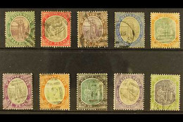 1903 Watermark Crown CA Complete Set, SG 1/10, Good Used, The 2s6d And 5s Are Fine Used. (10 Stamps) For More Images, Pl - St.Kitts And Nevis ( 1983-...)