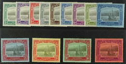1923 Tercentenary Of The Colony Set Complete, SG 48/60, Superb Lightly Hinged Mint. (13 Stamps) For More Images, Please  - St.Kitts And Nevis ( 1983-...)