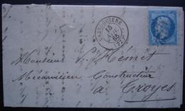 Labruguière 1865 Tarn Gc 1912, Lettre Pour Troyes - 1849-1876: Periodo Clásico