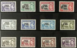 "1952 KGVI ""Tristan Da Cunha"" Overprinted Set, SG 1/12, Fine Mint (12 Stamps) For More Images, Please Visit Http://www.sa - Tristan Da Cunha"