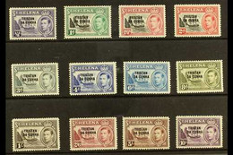 1952 KGVI Overprinted St. Helena Defins Set, SG 1/12, Fine Mint (12). For More Images, Please Visit Http://www.sandafayr - Tristan Da Cunha
