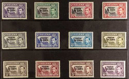 """1952 KGVI Overprinted""""TRISTAN DA CUNHA"""" Set Of St Helena, SG 1/12, Fine Mint (12 Stamps) For More Images, Please Visit  - Tristan Da Cunha"""