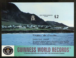 2003 IMPERF PROOF World Geographical Records £2 Miniature Sheet, SG MS769,IMPERF PROOF On Gummed, CA Wmk (Sideways) Pap - Tristan Da Cunha