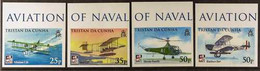 2009 ARCHIVE IMPERFORATE Centenary Of Naval Aviation Complete Set As SG 939/942, B.D.T Archive Imperforates, Never Hinge - Tristan Da Cunha