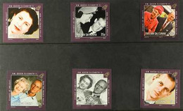 2011 ARCHIVE IMPERFORATE QEII & Prince Philip Lifetime Of Service Complete Set As SG 1009/1014, B.D.T Archive Imperforat - Tristan Da Cunha