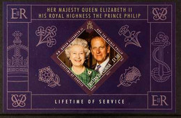 2011 ARCHIVE IMPERFORATE £1.50 QEII & Prince Philip Lifetime Of Service Miniature Sheet As SG MS1016, B.D.T Archive Impe - Tristan Da Cunha