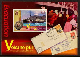 2011 ARCHIVE IMPERFORATE £2 Volcano (1st Series) Miniature Sheet As SG MS1039,B.D.T Archive Imperforate, Never Hinged M - Tristan Da Cunha