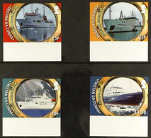 2011 IMPERF PROOFS Atlantic Odyssey (Voyages To Antarctica) Complete Set, SG 1017/1020, IMPERF PROOF On Gummed Paper, Fr - Tristan Da Cunha