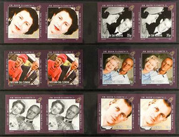 2011 IMPERFORATE PROOF PAIRS QEII & Prince Philip Lifetime Of Service Complete Set, SG 1009/1014, IMPERF PROOF PAIRS On  - Tristan Da Cunha