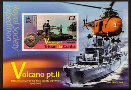 2012 ARCHIVE IMPERFORATE £2 Volcano (2nd Series) Miniature Sheet As SG MS1044,B.D.T Archive Imperforate, Never Hinged M - Tristan Da Cunha
