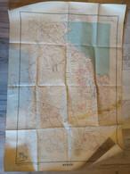 AOF - SENEGAL - CARTE TOPOGRAPHIQUE DE LA PRESQU'ILE DU CAP VERT (OUAKAM) 1/10 000 DE 1949 - Mapas Topográficas