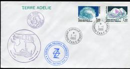 21396 T.A.A.F N°144/5° Minéraux : Adélicop XXXIXè. Mission Obl. Dumont D'Urville Du 1.1.89 TB - Covers & Documents