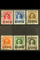 1934 Provisional Surcharge Set Complete, Sass S7, Superb Used. Cat €2000 (£1460)  (6 Stamps) For More Images, Please Vis - Unclassified
