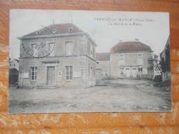 CPA VERNOIS SUR MANCE La Mairie Et La Poste - Altri Comuni