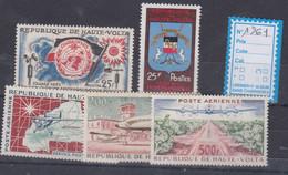 Haute-Volta  Année Complète 1961  XX Poste 93 à 94, Poste Aérienne 1 à 3, Les  5 Valeurs Sans Charnière, TB - Madagascar (1960-...)