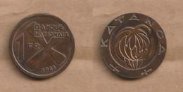 KATANGA  1 Franc 1961 Bronze • 4.7 G • ⌀ 22 Mm KM# 1, Schön# 1 - Other - Africa