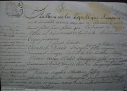 Troyes Aube 15 Messidor L'an 8 Document Concernant Les Héritiers Bourgoin - Manuscripts
