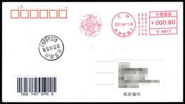 "China LanZhou City ""Chinese Vaccines Help The World"" COVID-19 Postage Machine Meter - Malattie"