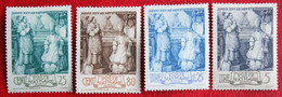 Consecration Of Pope Pius XII 1943 Mi 92-95 Yv 98-101 Ongebruikt/ MH VATICANO VATICAN VATICAAN - Unused Stamps