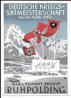 Propagandakarte Propaganda Hitler RPT Selten  Drittes Reich Ruhpolding Skimeister Krieg - Guerra 1939-45