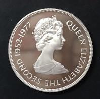 Gibraltar Gibilterra 25 Pence Silver Jubilee Elisabetta IIà 1977 PP/Proof D.642 - Other