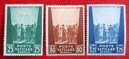 WAR PRISONERS WELFARE FUND PRO PRISIONEROS MCMXLIII 1944 Mi 96-98 Yv - Ongebruikt/ MH VATICANO VATICAN VATICAAN - Unused Stamps
