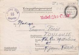 Correspondance Prisonnier Guerre Stalag VI A Hemer 5/12/1941 Pour Perès Toulouse Haute Garonne - Censure - WW II