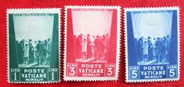 WAR PRISONERS WELFARE FUND PRO PRISIONEROS DE 1945 Mi 113-115 Yv 109-111 Ongebruikt / MH VATICANO VATICAN VATICAAN - Unused Stamps