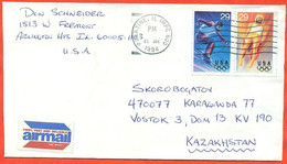United States1994. The Envelope  Passed The Mail. Airmail. - Winter 1994: Lillehammer