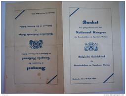 Menu 1936 Belgische Landsbond Der Bouwbedrijven En Openbare Werken Féderation Bâtiment Form. 15 X 23,5 Cm Vlekken Plooi - Menus