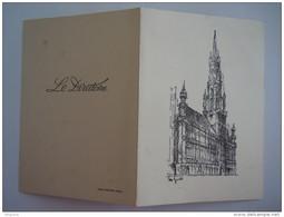 Menu 1954 Nationaal Verbond Der Belgische Aannemers Van Wegeniswerken Entrepreneurs Belges De Voirie Form. 11,6 X 16 Cm - Menus