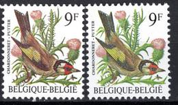 """2190 V9** Point Bleu Au-dessus Du """"LG"""" De Belgique - Neuf Sans Charnières - 1985-.. Pájaros (Buzin)"""