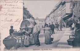 Delémont JU, La Grand Rue Animée, Le Marché (1209) Tachée - JU Jura