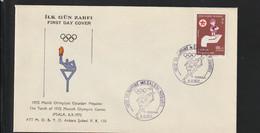 Turkey Cover 1972 München Olympic Games - Torch Relay Ipsala (G129-23) - Sommer 1972: München