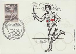 Austria Card 1972 München Olympic Games - Torch Relay Salzburg (G129-23) - Sommer 1972: München