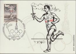 Austria Card 1972 München Olympic Games - Torch Relay Linz Donau (G129-23) - Sommer 1972: München