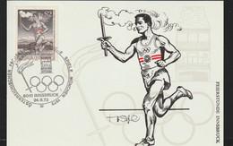 Austria Card 1972 München Olympic Games - Torch Relay Innsbruck (G129-23) - Sommer 1972: München